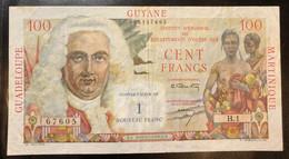 Antilles Françaises Guadeloupe Guyane Martinique 100 Francs Pick#1 Lotto 2807 - French Guiana