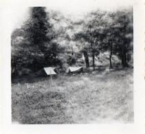 PHOTO - P - PHOTO ORIGINALE - HAUTE LOIRE - ALLEYRAS  - CAMPING - TENTES - FORMAT 6.5 X 6.3 - Places
