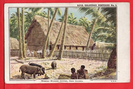 AUSTRALIA  MELANESIA   NEW GUINEA    WAMIRA MISION SCHOOL  SPG  MISSIONARY CARD  Pu 1931 - Other