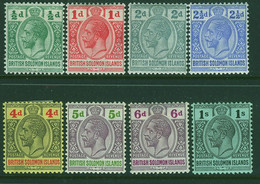 BRITISH SOLOMON ISLANDS 1914 GV Set To 1s Except 3d Value Mounted Mint - British Solomon Islands (...-1978)