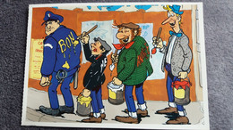 CPM BONNE ANNEE PEINTE SUR HABIT DONT POLICE  HUMOUR   PIEDS NICKELES DESSIN RODRIGUE ED ROMBALDI 1992 - Andere Illustrators