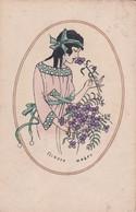 Liberty  ,  Un Nastro Azzurro Nei Capelli Neri  -  Illustr.  Weber E.  -  Ediz.  N P G  ,  A  1014  6 - Zonder Classificatie