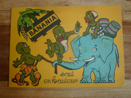 Carte Publicitaire BANANIA  : Saut En Hauteur, Cf Photos. - Publicidad