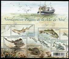 Blok 130** Noordzeevissen Met Zegels 3533/37**  Bloc 130 Poissons De La Mer Du Nord MNH - BF 130** - Blocks & Sheetlets 1962-....