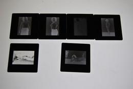 Lot De Diapositives Erotiques Noir Et Blanc - Diapositives (slides)