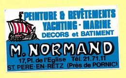AUTOCOLLANT STICKER PEINTURE ET REVÊTEMENTS YACHTING MARINE DÉCORS ET BATIMENT - M. NORMAND 17 PLACE DE L'ÉGLISE ST-PÈRE - Stickers
