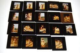 Lot De Diapositives Erotique Ile Du Levant - Diapositivas