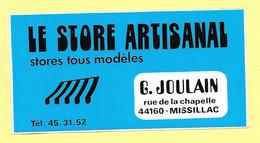 AUTOCOLLANT STICKER LE STORE ARTISANAL - MAGASIN G. JOULAIN RUE DE LA CHAPELLE 44160 MISSILAC - Stickers
