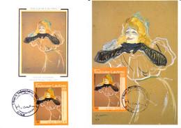 Lot De 2 Cartes - Maxi 1er Jour : Albi - Henri De TOULOUSE-LAUTREC (Yvette Guilbert) - 2000-09
