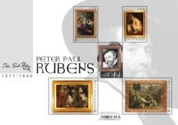 Blok 262** Peter Paul Rubens - 4765/69** Meesterlijke Schilders - Maîtres De La Peinture! België 2018 - Nuevos