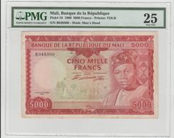 Mali 5000 Francs 1960 P-10a VF PMG 25 - RARE - Mali