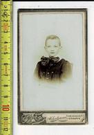 Kl 1380 - PHOTO ENFENT - GARCON -  FOTO KIND JONGEN  - PHOPOGRAPIE A. CHARBONNIER GENAPPE - Old (before 1900)