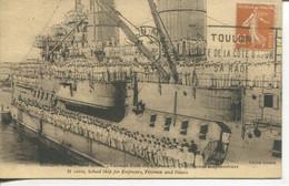 010607  Toulon - Le Saint Louis, Vaisseau Ecole Des Mécaniciens, Chauffeurs Scaphandriers  1927 - Toulon