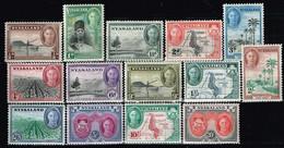 NYASALAND / Neufs*/MH*/ 1945 - Série Courante/ Georges VI Et Sujets Divers / YVT N°77/90 / MI.N°70/83 - Nyassaland (1907-1953)