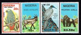 NIGERIA / Neufs**/MNH**/ 1990 - Animaux Sauvages  / YVT N°563/566 / MI.N°561/564 - Nigeria (1961-...)