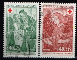 FRANCE / Oblitérés / Used /1970 - Croix Rouge / YVT N°1661/1662 / MI.N°1733/1734 - Usados