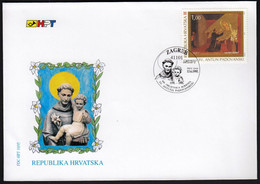 Croatia Zagreb 1995 / St. Antun Padovanski, St. Anthony Of Padua / Joint Issue With Italy / FDC - Croacia