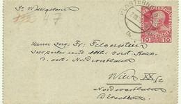 1909   Kartenbrief 10 H Gelaufen Von Klosterneuburg Nach Wien - Stamped Stationery