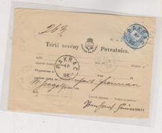 CROATIA HUNGARY 1888 PAKRAC Nice Postal Document - Croacia