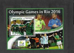 Olympische Spelen  2016 , Tanzania - Blok Postfris - Verano 2016: Rio De Janeiro
