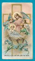 Santino/holycard: NATIVITA' - E - PR - Mm. 69 X 123 - Cromolitografia Liberty - Religione & Esoterismo