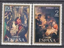 Spain 1970 Mi#1895-1896 Mint Never Hinged - 1961-70 Unused Stamps