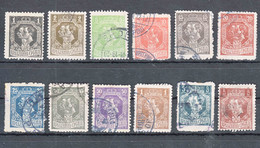 Serbia Kingdom 1918 Mi#132-144 Complete Values Mixed, Used - Serbia
