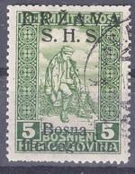 Yugoslavia Kingdom SHS, Issues For Bosnia, Invalides White Numbers 1918 Mi#A19 I (overprint Latin), Used - Usati