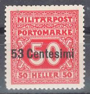 Austria Feldpost Occupation Of Italy 1918 Porto Mi#7 Mint Hinged - Unused Stamps