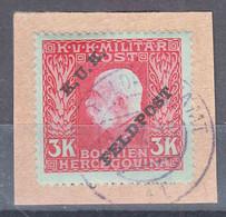 Austria Feldpost 1915 Mi#19 Used On Piece - Usados
