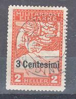 Italy Occupation Of Austria Sassone#R1 (carta Bianca) Mi#24 ND Used - Usados