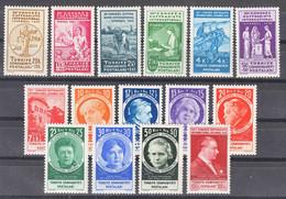 Turkey 1935 The 12th Congress Of The International Women's Alliance - Suffragiste Mi#985-999 Excellent Mint Never Hinged - Ungebraucht