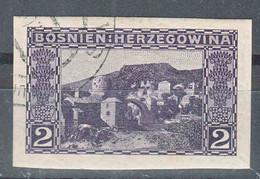 Austria Occupation Of Bosnia 1906 Pictorials Mi#30 U, Imperforated, Used - Usados