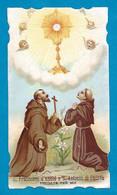 Santino/holycard: SS. FRANCESCO D'ASSISI ED ANTONIO DI PADOVA - E - PR - Mm. 65 X 116 - Cromolitografia - Religion & Esotericism