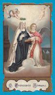 Santino/holycard: S. FRANCESCA ROMANA - E - PR - BR - Mm. 67 X 118 - Cromolitografia - Religion & Esotericism