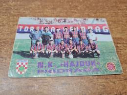 Old Pocket Calendars - Croatia, Soccer, NK Hajduk Pridraga - Tamaño Pequeño : 1991-00