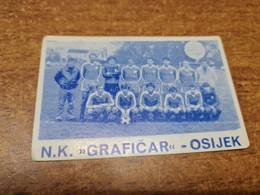 Old Pocket Calendars - Croatia, Soccer, NK Grafičar - Tamaño Pequeño : 1981-90