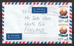 HONG KONG (CHINA) 1997 Cover Sent To Santa Klaus 2 Stamps COVER USED - Cartas