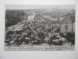 CHAROLLES 1900 La Foire Aux Bestiaux, Belle Animation Agricole Agriculteurs Boeufs Vaches Veaux - CPA 71 SAONE ET LOIRE - Charolles