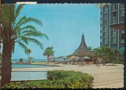°°° 25112 - NETHERLANDS ANTILLES - ARUBA - SHERATON HOTEL & CASINO - 1977 With Stamps °°° - Aruba