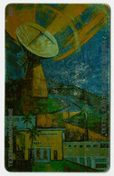 Earth Station Painting (Control Number Top Right) - Trinidad & Tobago