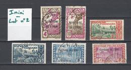ININI : Lot 2 De 6 Timbres Oblitérés - Used Stamps