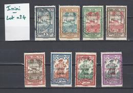 ININI : Lot 4 De 6 Timbres Taxes Oblitérés (Oblitération Ronde) - Used Stamps