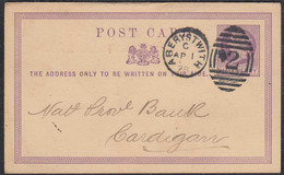 Great Britain UK 1878 Postal Stationery 1/2 P. ABERYSTWITH To CARDIGAN    (65349 - Sin Clasificación