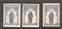 Portugal, 1895, # 123/5, Goma Original, MH - Unused Stamps