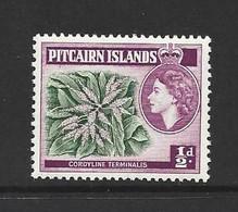Pitcairn Islands 1963 1/2d Flower Definitive New Watermark MNH - Pitcairn