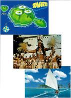 POLYNESIE FRANCAISE / Lot 59 C.P.M. écrites - 5 - 99 Karten