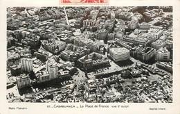 """CPSM MAROC """"Casablanca, La Place De France"""" - Casablanca"""