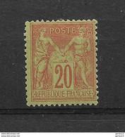 SAGE     N°  96 **    NEUF SANS CHARNIERE      COTE   75 - 1876-1898 Sage (Type II)