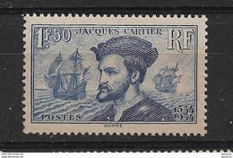 CARTIER  N° 297  **   NEUFS SANS CHARNIERE      COTE  190 - Unused Stamps